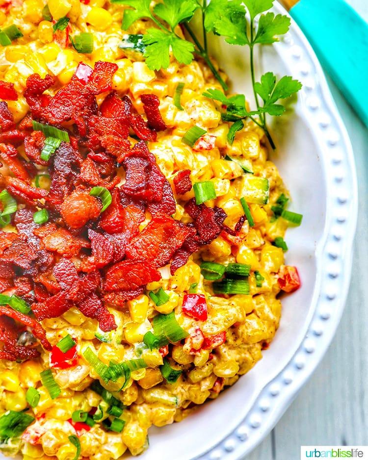 Creamy confetti corn side dish recipe