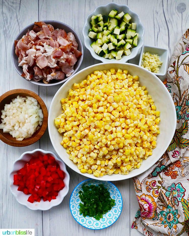 Creamy Confetti Corn ingredients