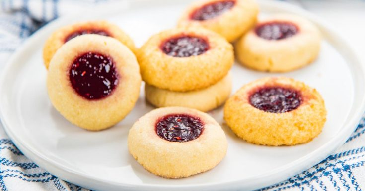 Classic Thumbprint Cookies - The Flavor Bender
