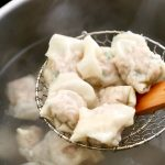 Pork and Shrimp Wontons cooked