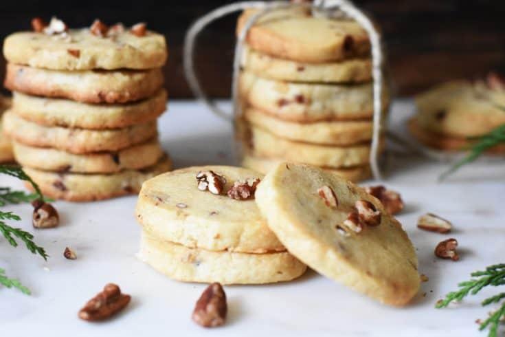 Toasted Pecan Shortbread Cookies
