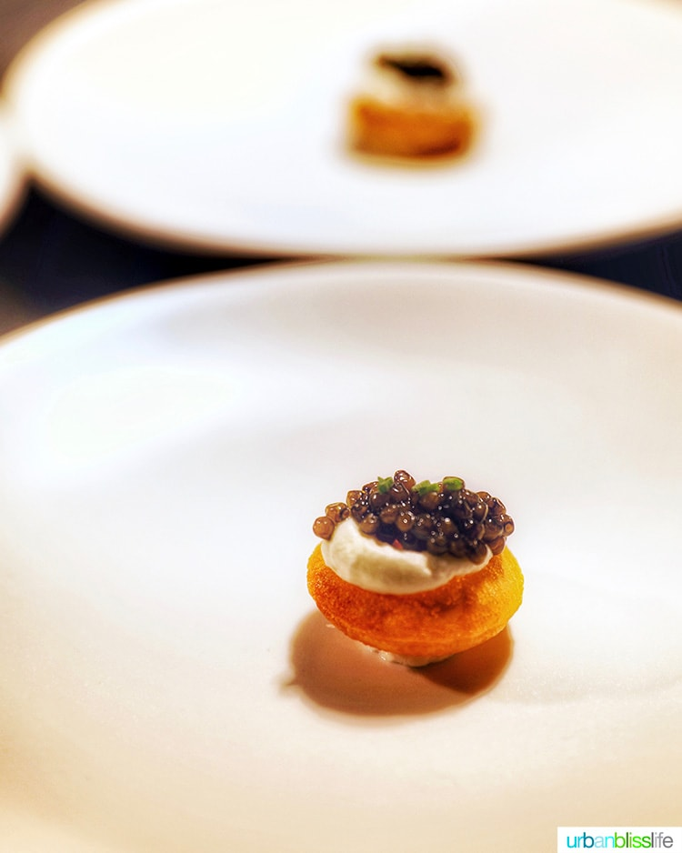caviar at Domaine Serene Wine Lounge