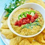 Dairy Free Queso Dip and chips