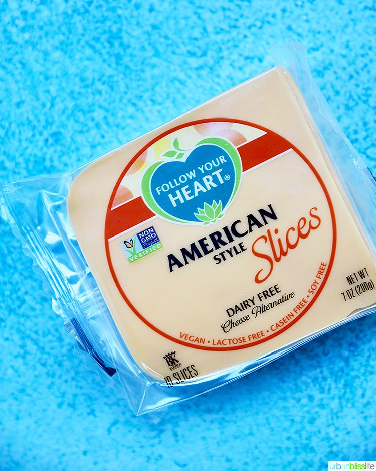 Follow Your Heart dairy free cheese slices