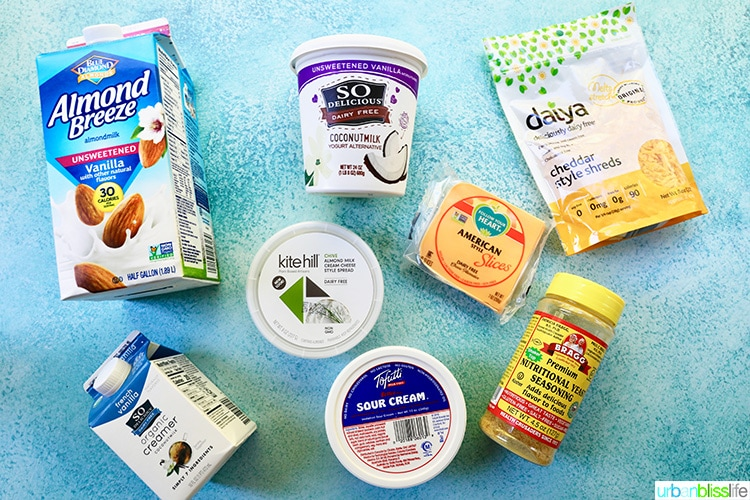 collection of best dairy free food products