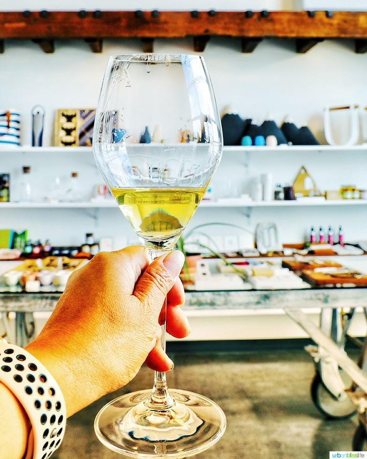 Foundry Vineyard white wine glass store