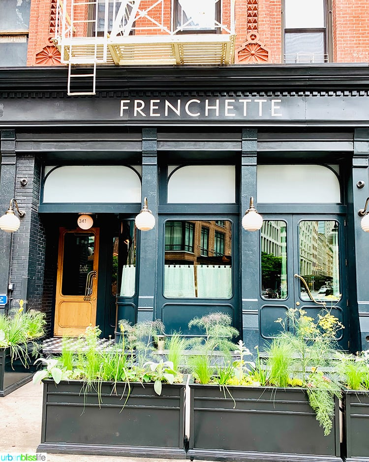 Frenchette NYC restaurant