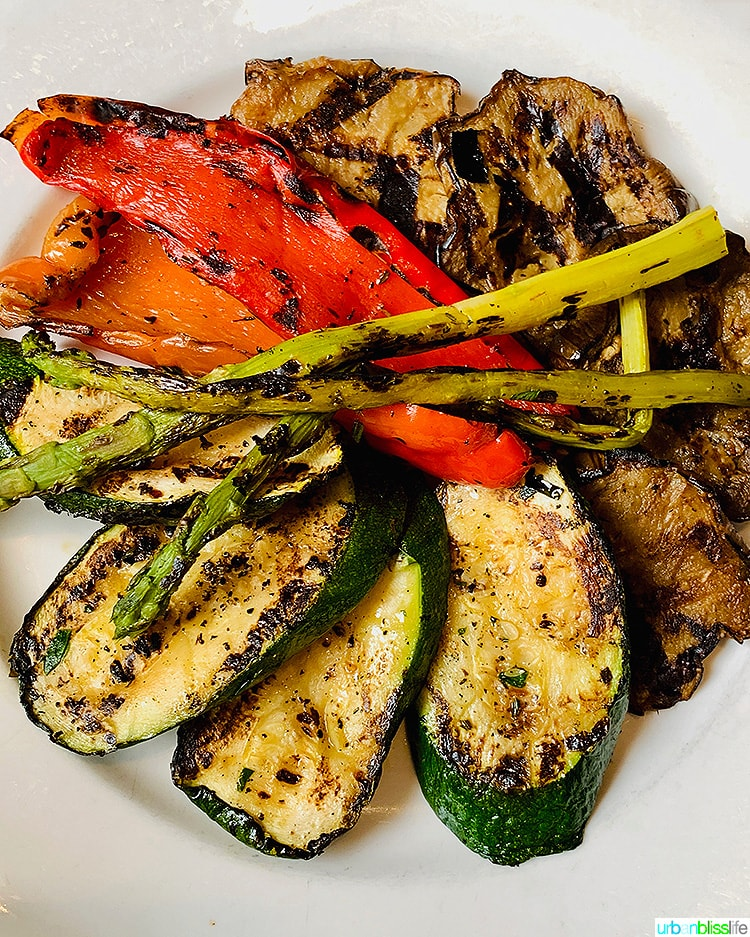 grilled veggies at Petrarca wine bar NYC