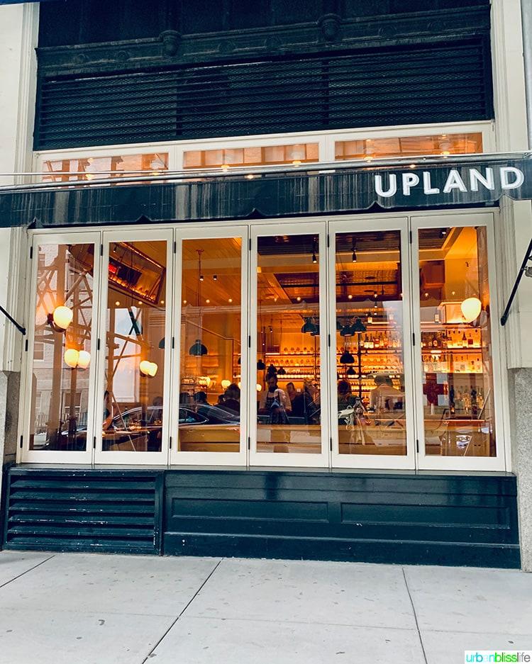 Upland NYC restaurant exterior