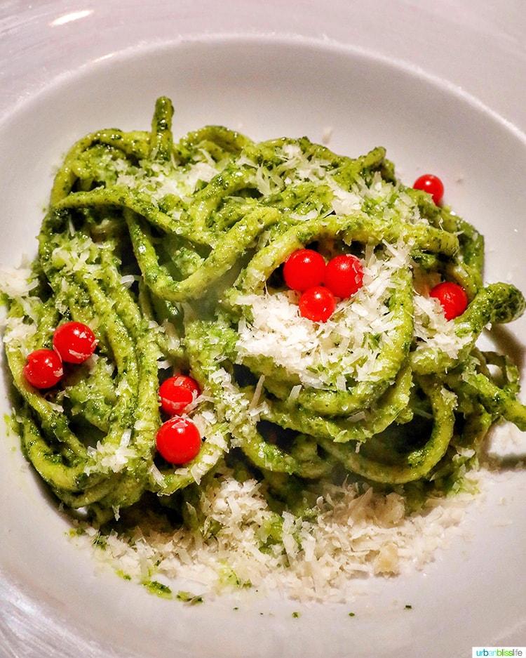 pasta at Passatempo restaurant