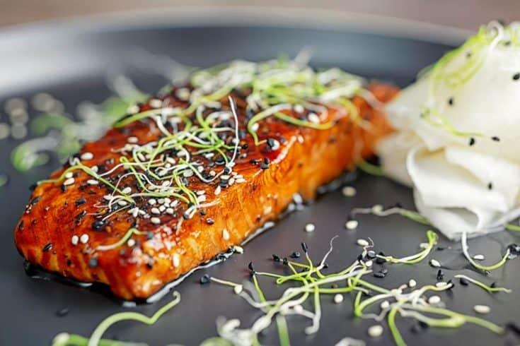 Quick Pan Fried Salmon Teriyaki