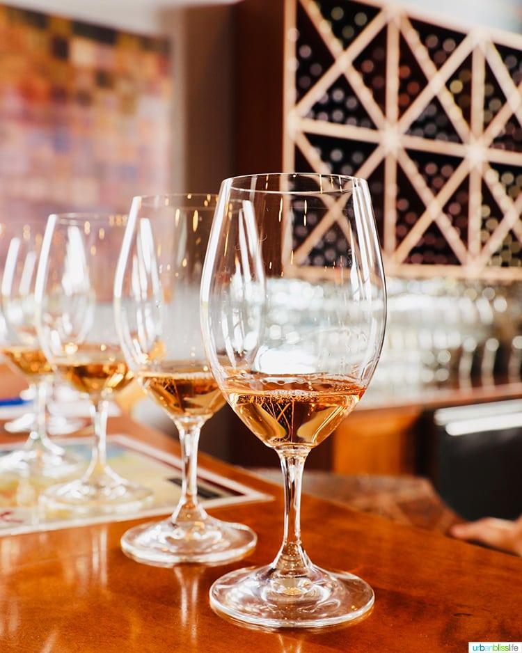 Tertulia Cellars glasses of rosé wine