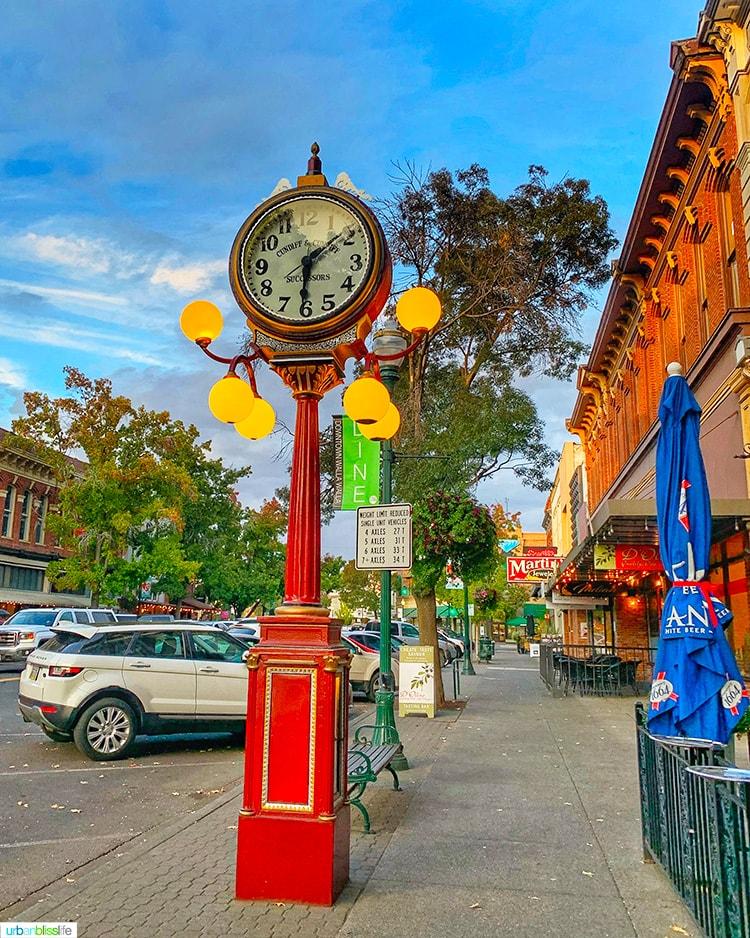 big clock in downtown walla walla washington