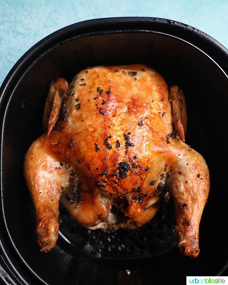 just air fried Air Fryer Rotisserie Chicken