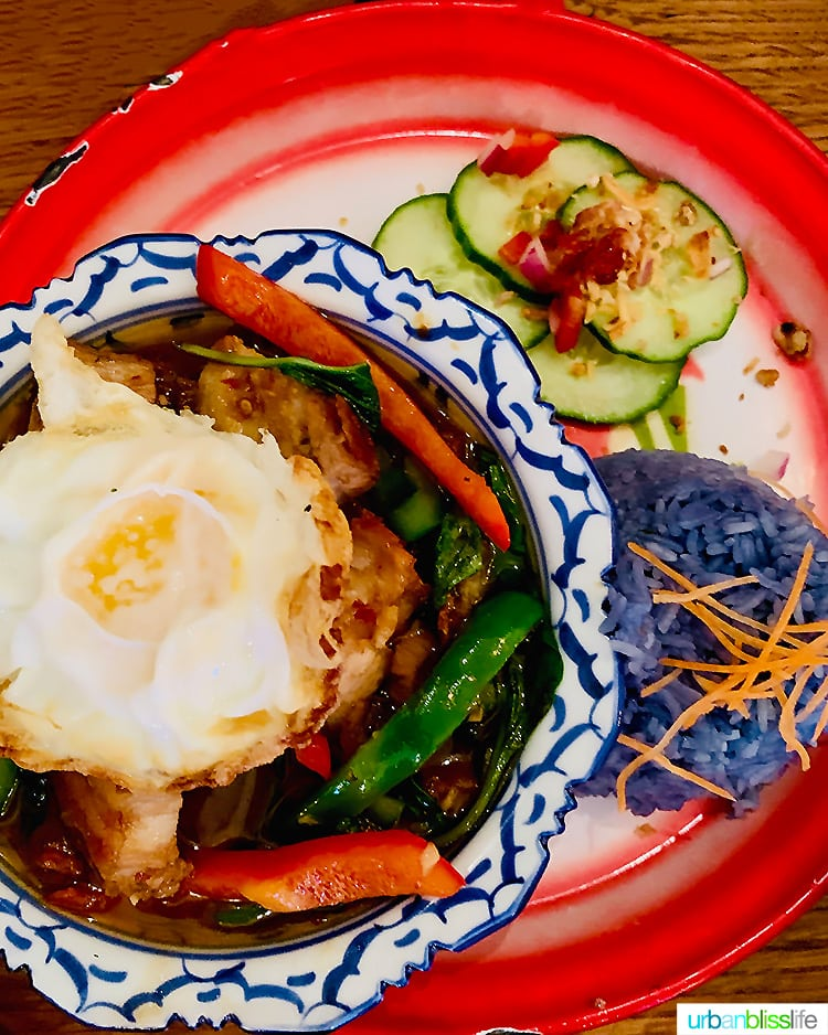 Pad Ka Pow thai food portland