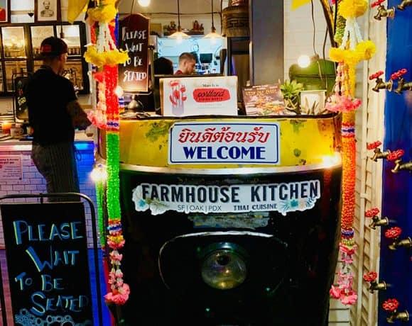 Colorful Tuk Tuk inside Farmhouse Kitchen Thai restaurant Portland