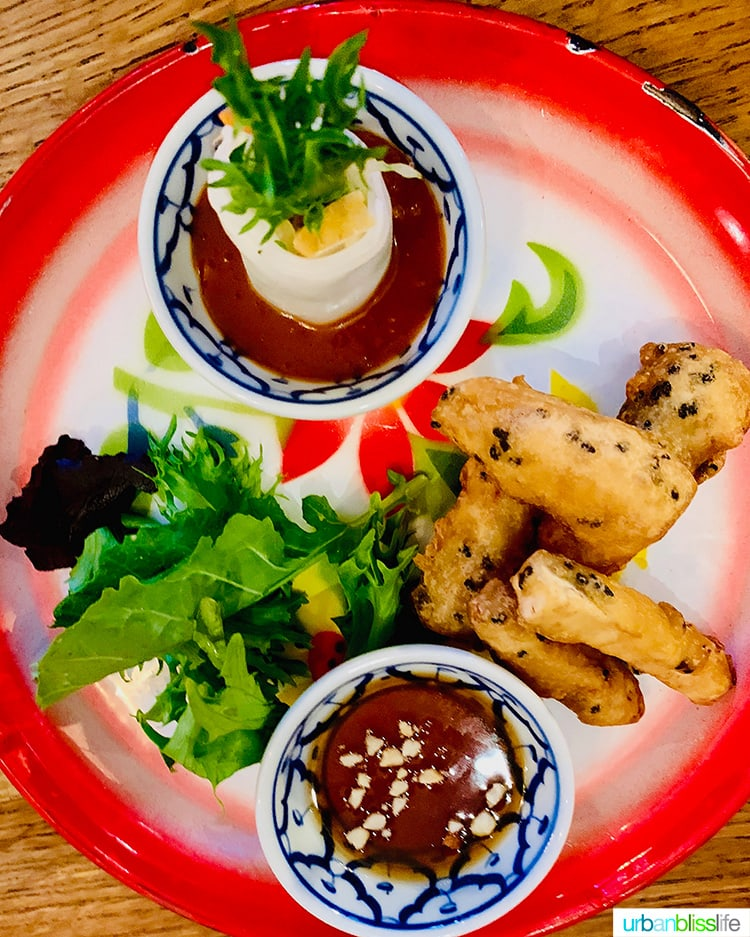 Vegan Fresh Rolls at Farmhouse Kitchen Portland thai restaurant