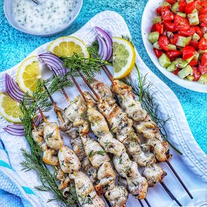 Greek Chicken Souvlaki Feature