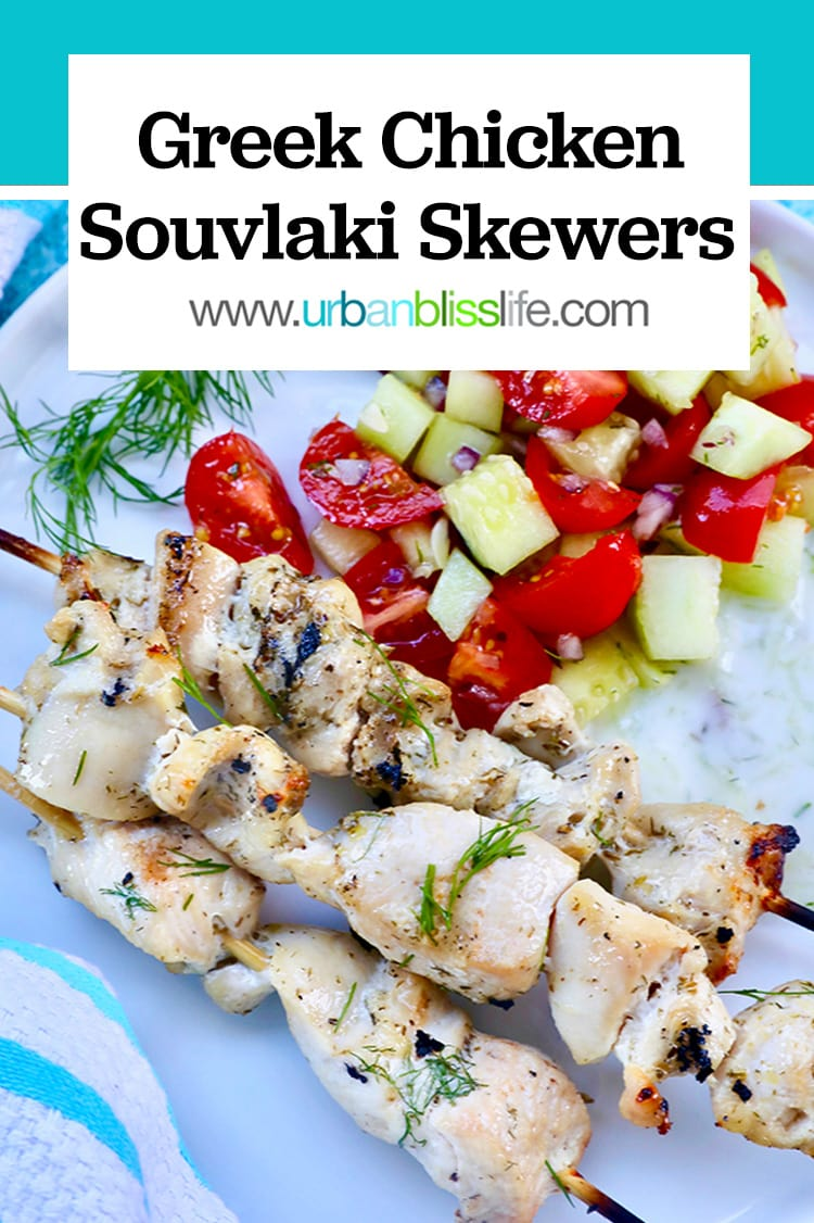 Greek Chicken Souvlaki Skewers