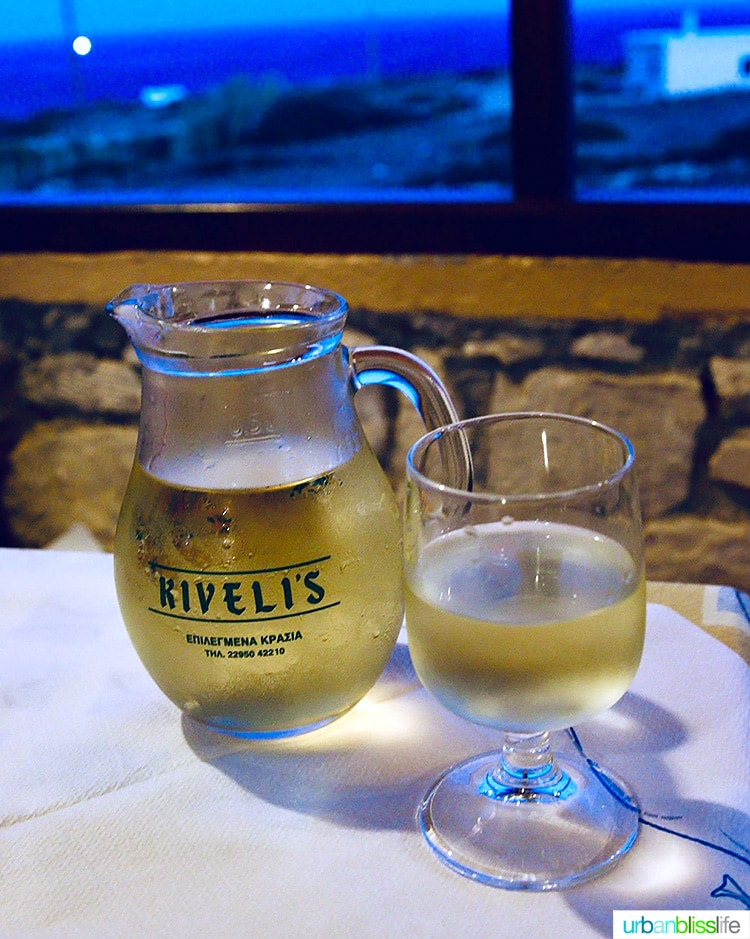 Greek white wine