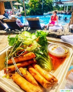 Filipino Lumpia at Fairmont Kea Lani Resort in Maui