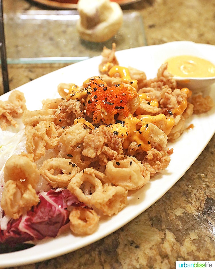 calamari at at Ko restaurant Fairmont Kea Lani Maui