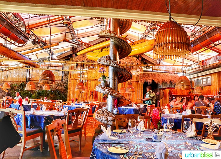 Best places to eat in Maui: Interior of Mama's Fish House in Maui