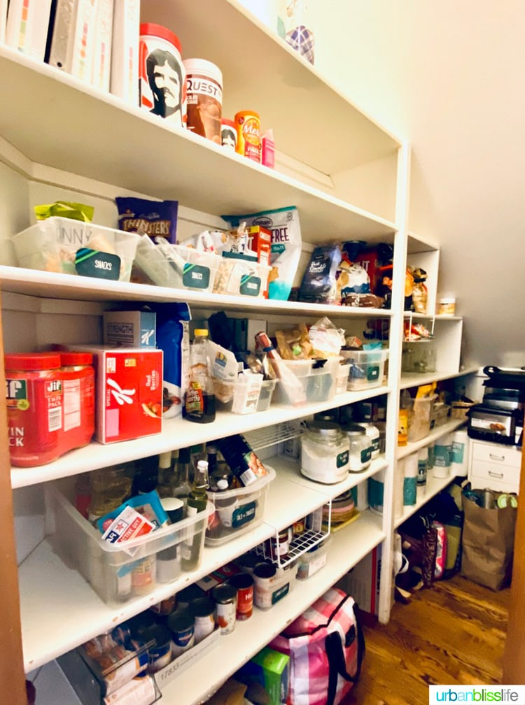 Pantry with Non-Perishable Food Pantry List
