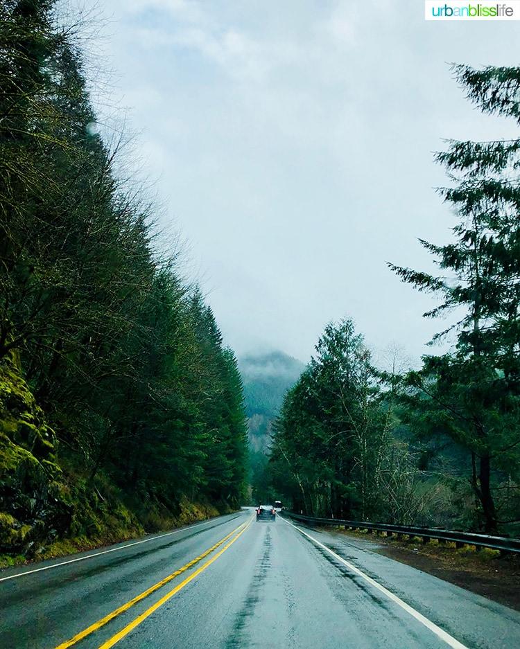 pacific northwest rainy road trip