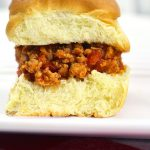 close up of one of the Sloppy Joe Sliders