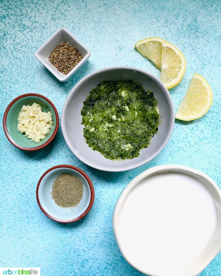 vegan tzatziki ingredients