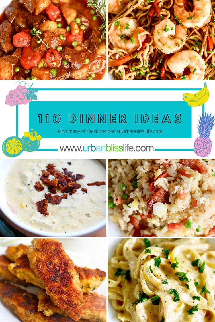 110 Family Friendly Dinner Ideas