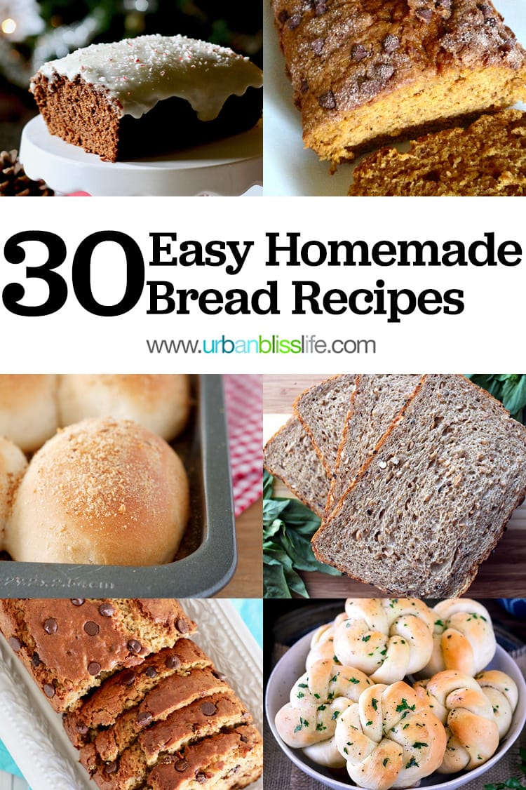 30 Easy Homemade Bread Recipes