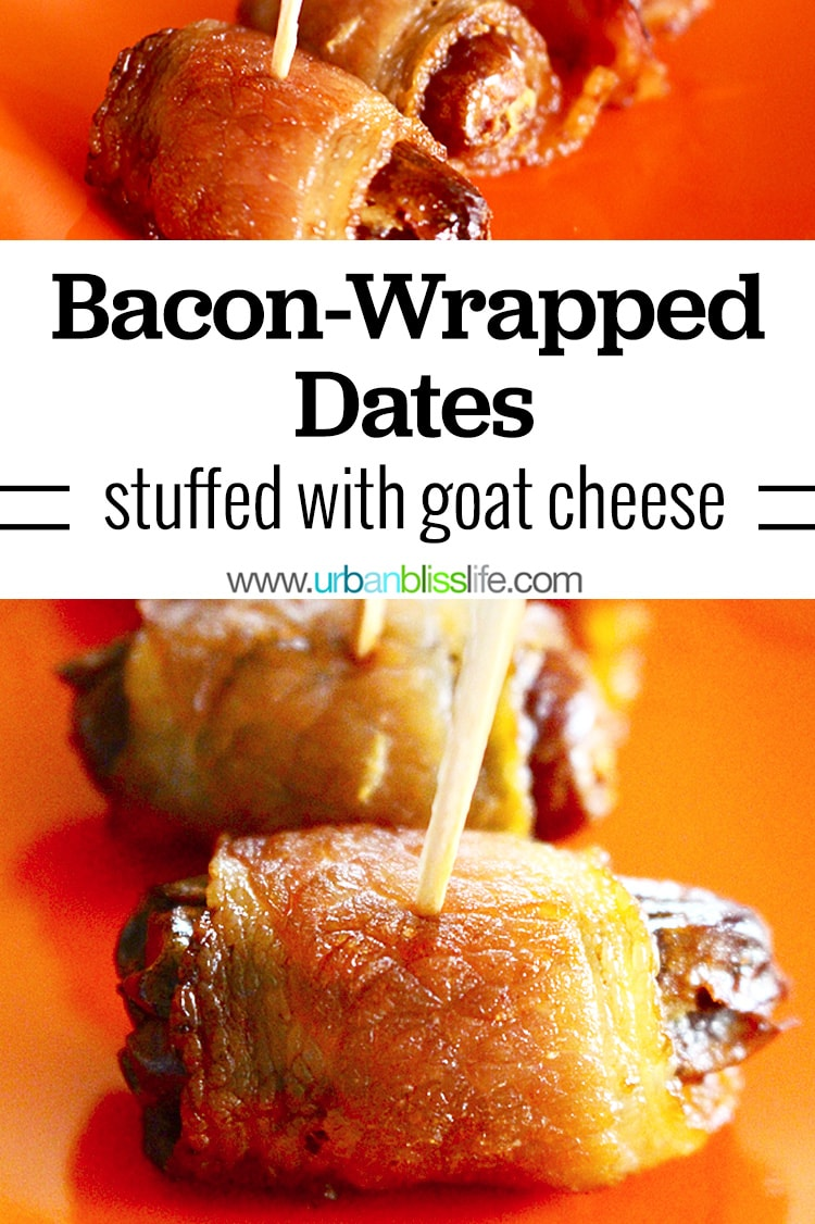 bacon-wrapped dates with goat cheese
