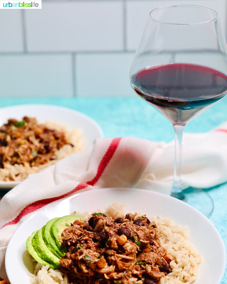 Instant Pot Fiesta Chicken with red wine