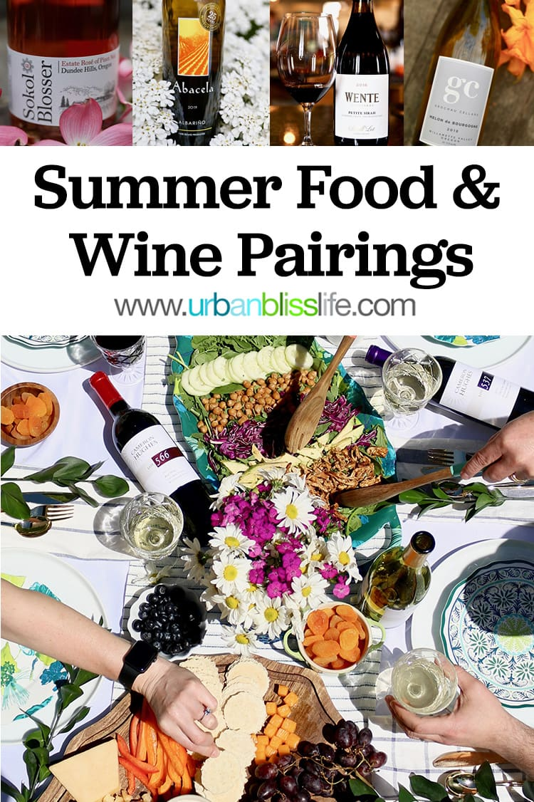summer wine and food pairings