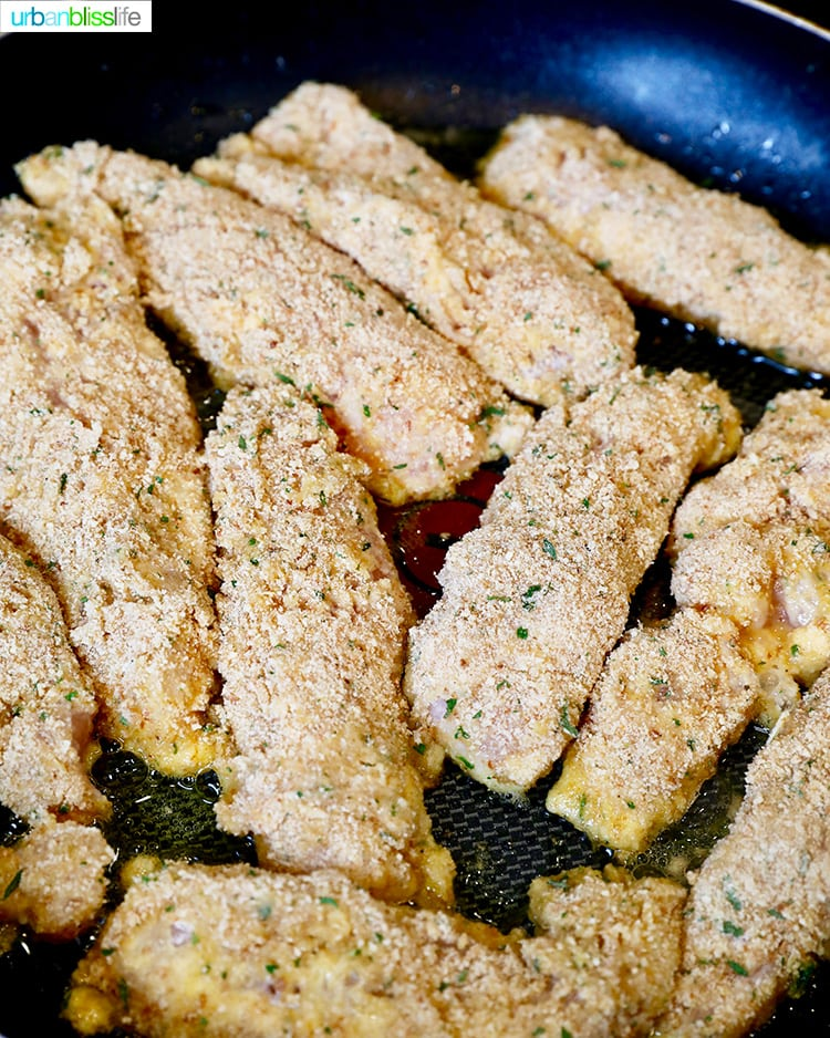 frying chicken tenders