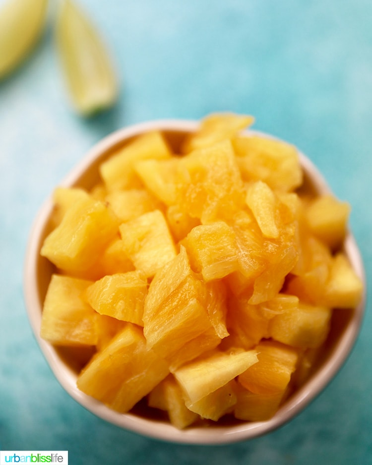 bowl of pineapples