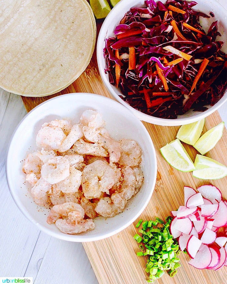 ingredients for shrimp tacos