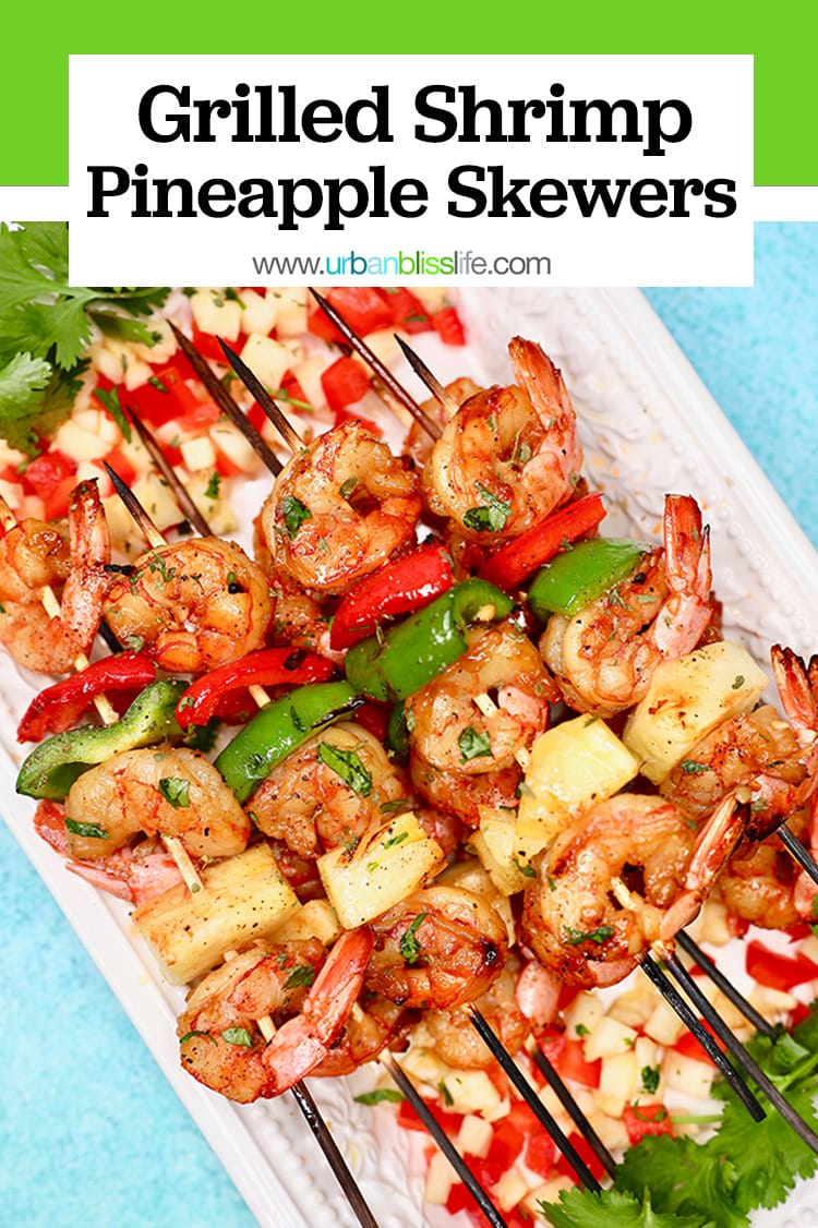 grilled shrimp pineapple skewers