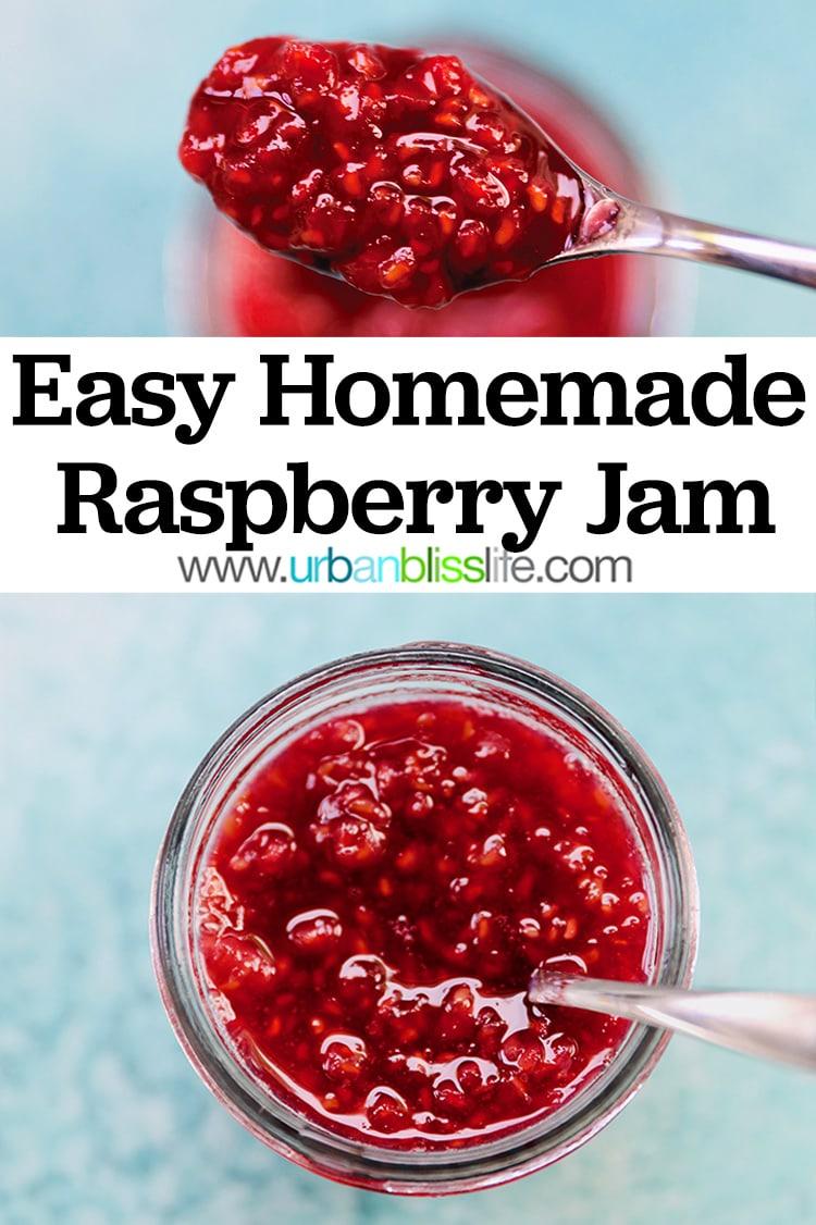 easy homemade raspberry jam recipe
