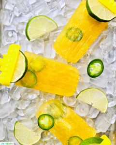 trio of Tropical Margarita Popsicles