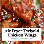 air fryer teriyaki chicken wings graphic
