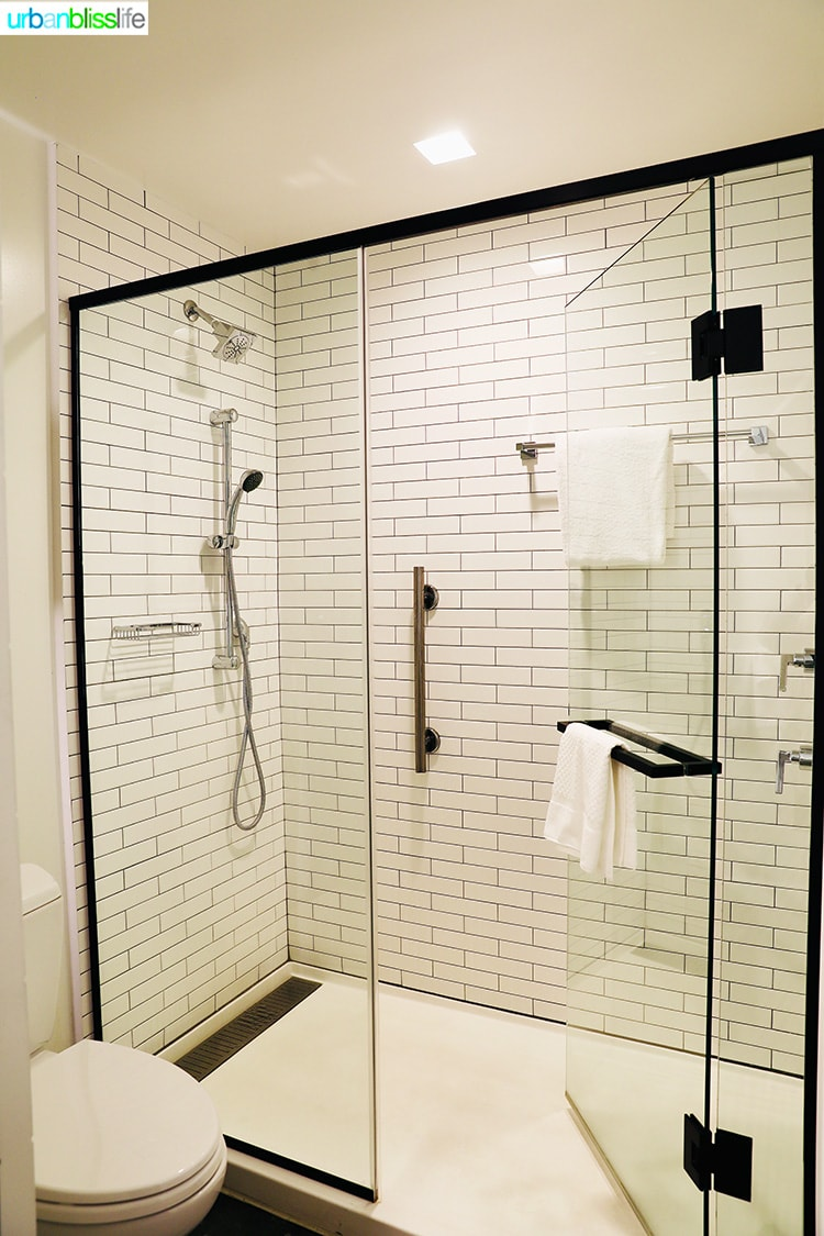 bathroom in Canopy by Hilton Portland hotel