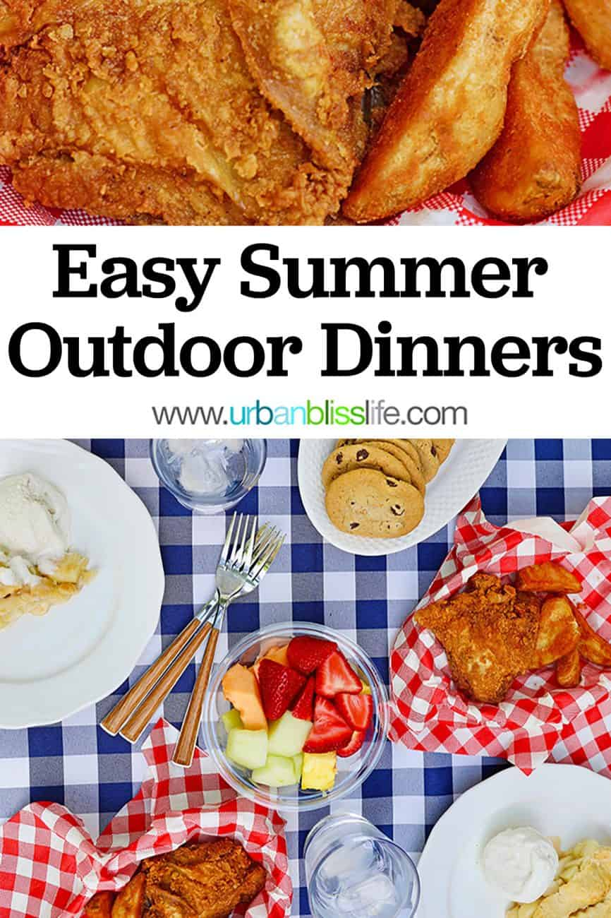Easy Summer Outdoor Dinners main graphic