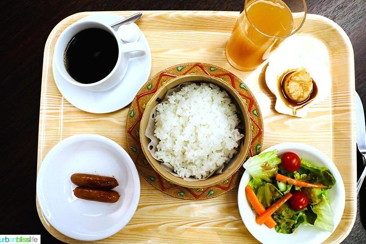 traditional Japanese & Western breakfast at Hotel Jogakura