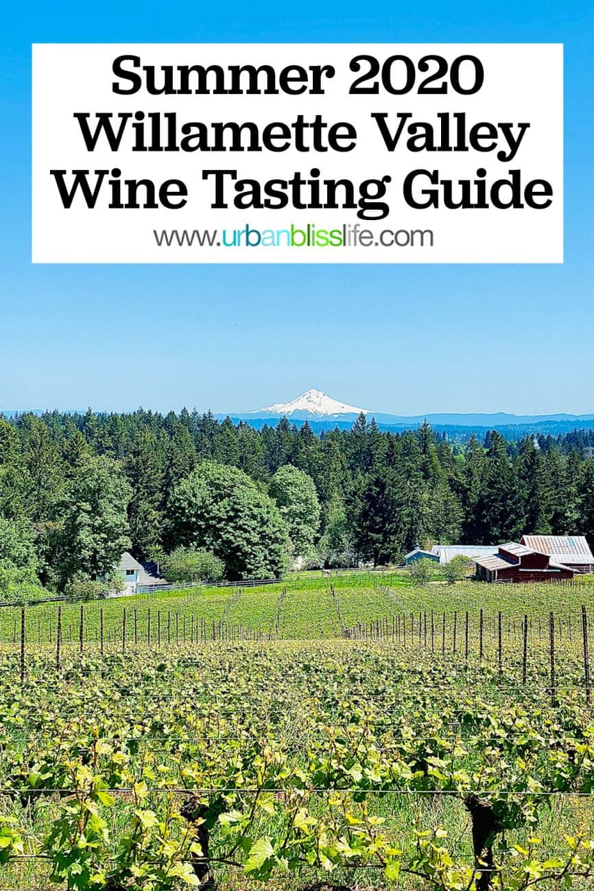 willamette valley oregon wine tasting guide graphic