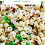 main graphic for tuna pasta salad recipe