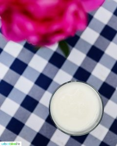 ultra-filtered milk in a glass
