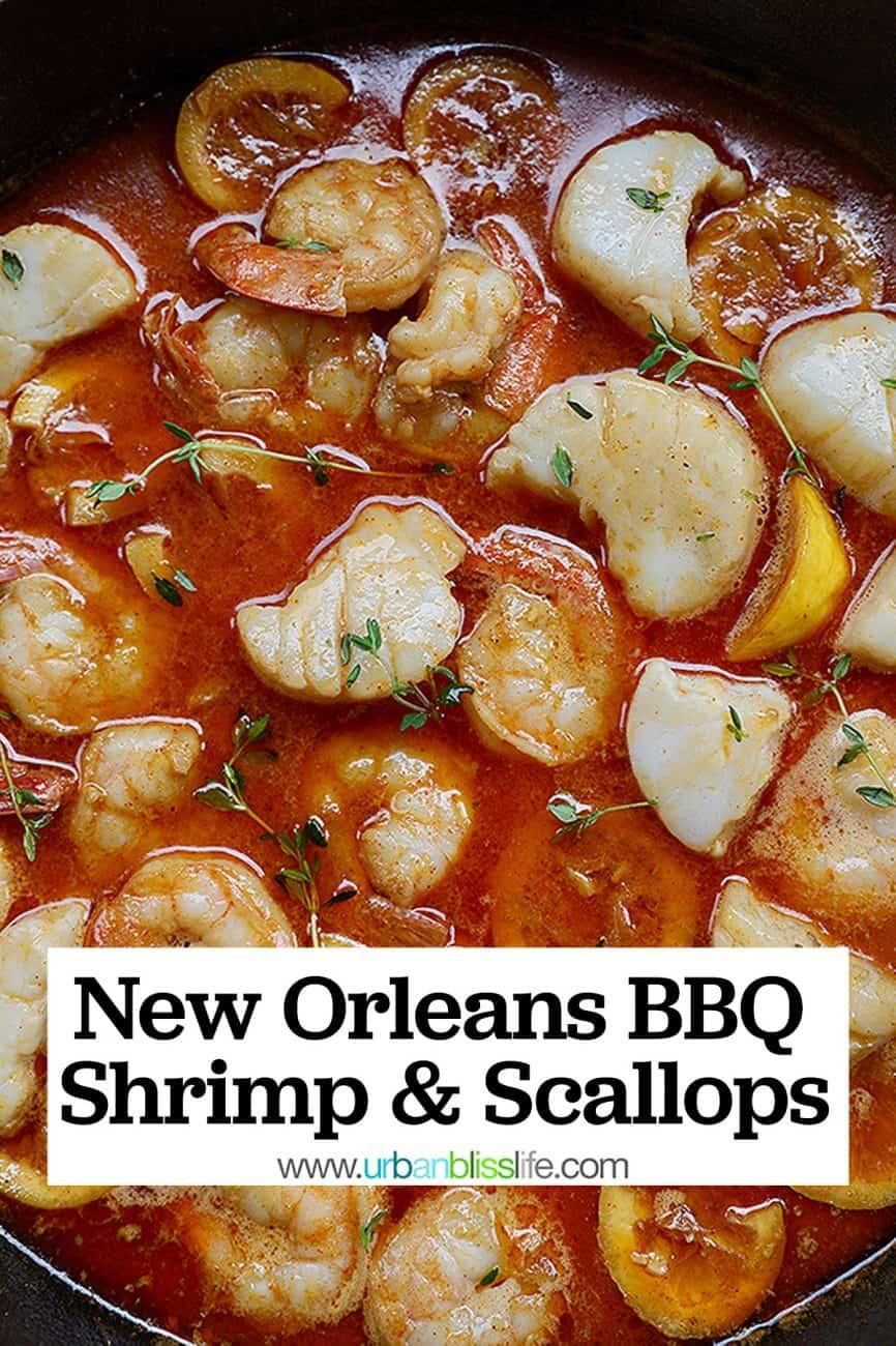 New Orleans-style BBQ Shrimp & Scallops